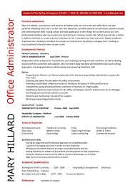 office administrator resume personal statement writing resume example of personal statement for resume