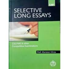 selective long essays by prof manzoor mirza by ilmi selective  selective long essays by prof manzoor mirza by ilmi