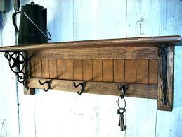Coat Rack Wall Mounted Shelf