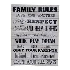 family rules canvas wall print konga
