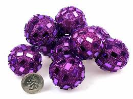 Purple Decorative Balls For Bowls