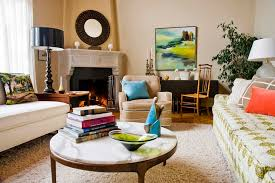 best decorating with a round coffee table
