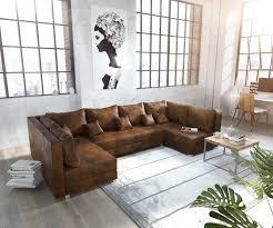 Couch Panama Braun Wohnlandschaft Modular