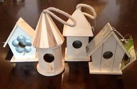 unfinished wood bird houses