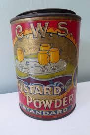 Rare vintage early 20th century CWS Custard Powder drum tin eBay