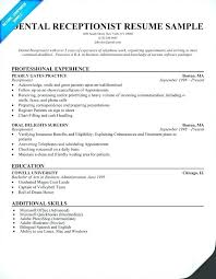 Resume Examples For Receptionist Desk Receptionist Resume Example Receptionist Resume Dental 95