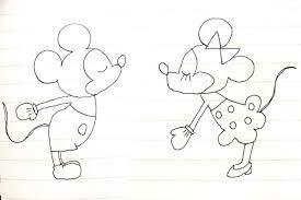 ディズニーキャラクターのイラストを描き方の見本をみて描いてみた