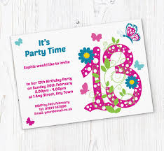 13th Party Invitations Butterfly 13th Birthday Party Invitations