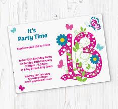 Free 13th Birthday Invitations Butterfly 13th Birthday Party Invitations