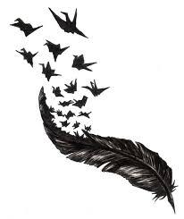 перо с птицами эскиз картинки по запросу єскиз тату перо с птицами