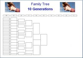 Ten Generation Pedigree Chart Unmistakable Family Tree Chart Template Microsoft Word Free