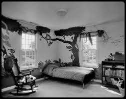 black and white bedroom ideas from cool chandelier above single bed