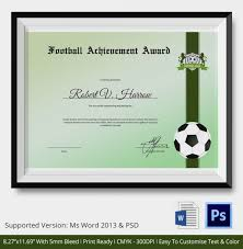 soccer awards templates 28 images of football certificate of appreciation template