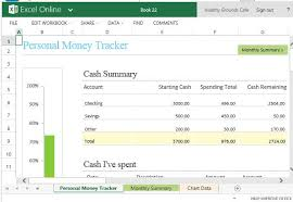 Tracking Expenses In Excel Personal Money Spending Tracker Template For Excel Online
