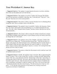 Tone Worksheet 4   Answers