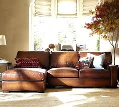 pottery barn leather couch turner square arm leather sofa with chaise sectional pottery barn leather sectional