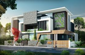 ... 3d bungalow exterior day visualization with photo realistic view