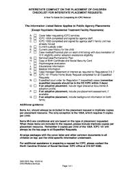 icpc form 100a fillable online info dhhs state nc dss 5255 icpc checklist for