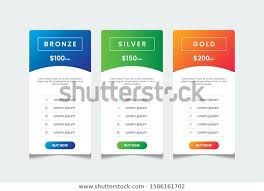Price List Template 3 Tables Price Stock Vector Royalty