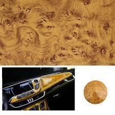 Glossy Wood Grain <b>Textured</b> Vinyl Self-adhesive Car Wrap Decals ...