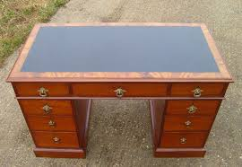 antique 4ft victorian desk victorian gany pedestal writing desk with leather top