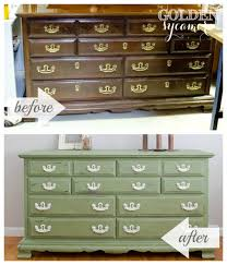 spring green dresser before and after 2