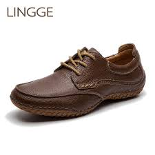<b>LINGGE Brand</b> Business Style <b>Men's</b> Shoes Genuine Leather <b>lace</b> ...