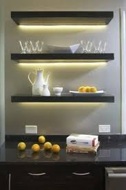Ikea Canada Floating Shelves Extraordinary Use LED Light Bars Or LED Strip Lights To Create Lighting Under