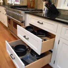 kitchen cabinet drawers. Julie Fergus, Cabinet Drawers - Pots And Pans In Large When Re-do Kitchen Do This Instead Of Lower Cabinets.