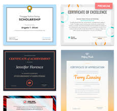 Professional Certificates Templates Venngage The Online Certificate Maker