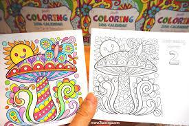 free coloring calendar mushroom page by thaneeya mcardle