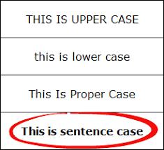 sentence case in excel formula