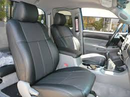 clazzio leather black custom seat covers for toyota tacoma trd double cab 09 11