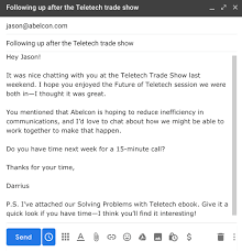 The Keys To Writing Trade Show Follow Up Emails That Stand