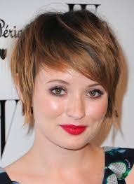 it will also be helpful to have layered bangs to make your face thinner short hair is the ideal hair for round