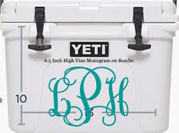 Amazon Com Yeti Roadie Cooler Monogram Vinyl Decal Handmade