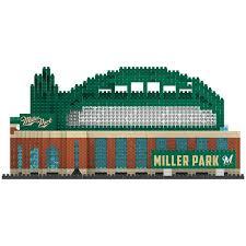 Milwaukee Brewers Miller Park Mlb 3d Brxlz Stadium Blocks Set