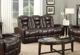 trenda transformer dark brown power reclining sofa