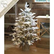 Kasler Flocked Frasier Fir Tabletop Tree
