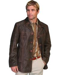 zoomed image scully calf suede leather car coat brown hi res