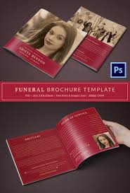 Funeral Templates Free Enchanting 48 Funeral Program Brochure Templates Free Word PSD PDF Excel