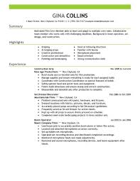 Resume Template Film Resume Template Free Career Resume Template
