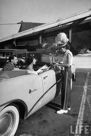 best images about car hop girls restaurant root carhop taking an order during lunch hour hollywood 1954 by alfred eisenstaedt