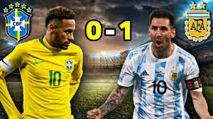 آخر مباراة جمعت بين الارجنتين 🇦🇷 والبرازيل 🇧🇷 سوبر كلاسيكو 🔥 - YouTube