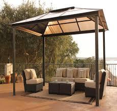 gazebo furniture ideas. backyard canopy gazebo design in minimalist outdoor with rattan furniture view awning shelters ideas e