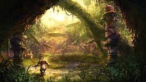 jungle fantasy art artwork 1920x1080 ...
