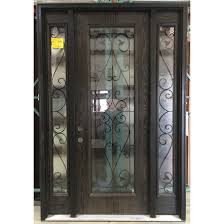 masonite fiberglass entry door with wisteria glass