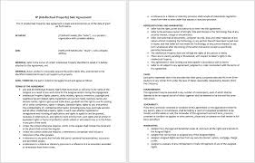 sale word agreement templates intellectual property sale agreement template