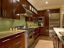Green Tile Backsplash Kitchen Amazing Kitchen Design With Granite Kitchen Countertops And Green