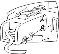 Disegno Di Camion Dei Pompieri Con Pompa Da Colorare Disegni Da